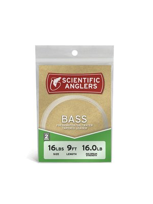 Scientific Anglers Bass Leaders 9' 2-pack
