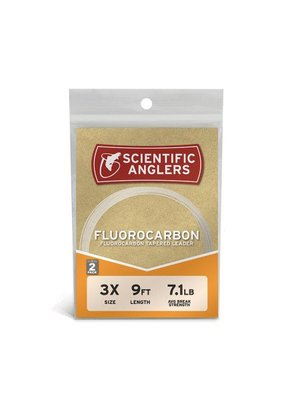 Scientific Anglers Fluorocarbon Leaders 9' 2-pack