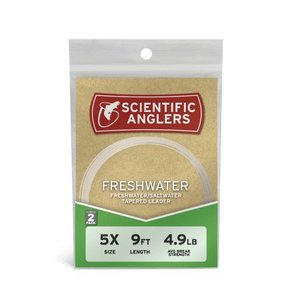 Scientific Anglers Freshwater Leaders - 9ft - 2-pack
