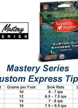 Scientific Anglers Mastery Custom Cut Express Tip