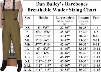 Dan Bailey Barebones Wader