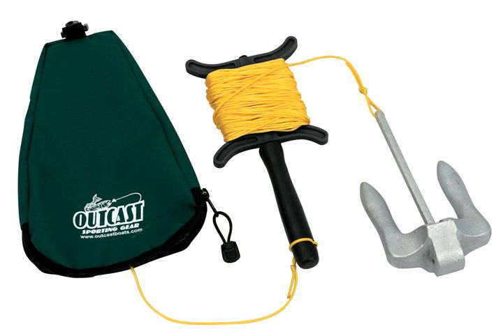 Outcast Float Tube Anchor w/Rope