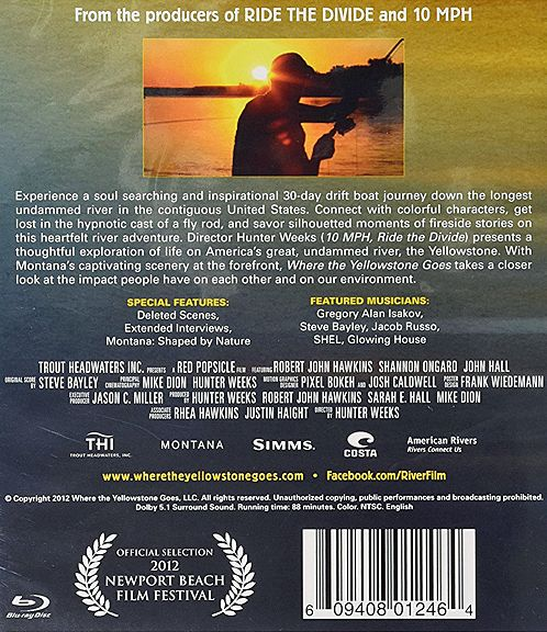 DVD-Where the Yellowstone Goes- BluRay