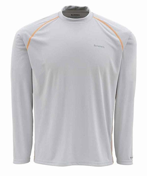 Simms SolarFlex Long Sleeve Crewneck Solid Shirt