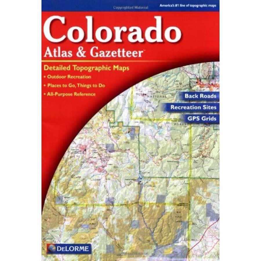 Book delorme atlas gazetteers mrfc for Colorado fishing atlas