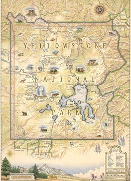 Xplorer Map - Yellowstone National Park