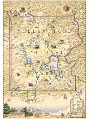 Xplorer Map - Yellowstone National Park