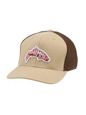 Simms Flexfit Trucker Woodblock