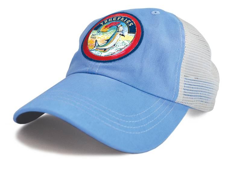 TrueFlies Tarpon Trucker Hat - Washed Sky