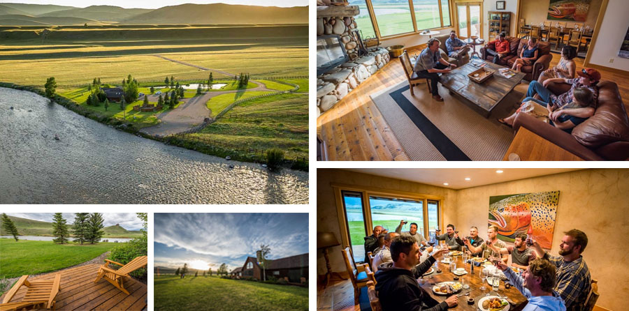 Madison River lodge with Montana Angler and Trout Stalkers