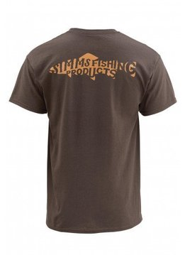 Simms Woodblock Trout SS T Shirt