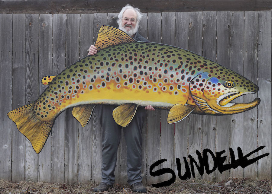 Bern Sundell is a fly fisherman, fly tying and artist who paints beautiful, realistic trout with inspiration from the Madison River in Ennis, Montana.