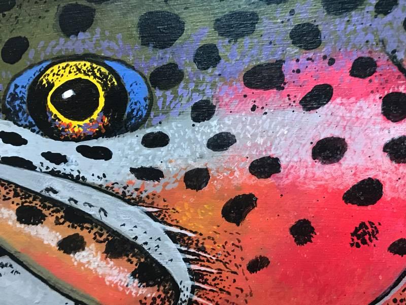 "Bern Sundell Original Hand Painted Wood Cutout - 45"" Rainbow #1"