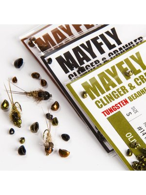 Hareline Nymph Head Tungsten Beads - Mayfly
