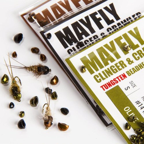 Hareline Nymph Head Tungsten Beads - Mayfly