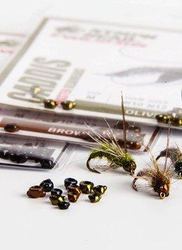 Hareline Nymph Head Tungsten Beads - Caddis