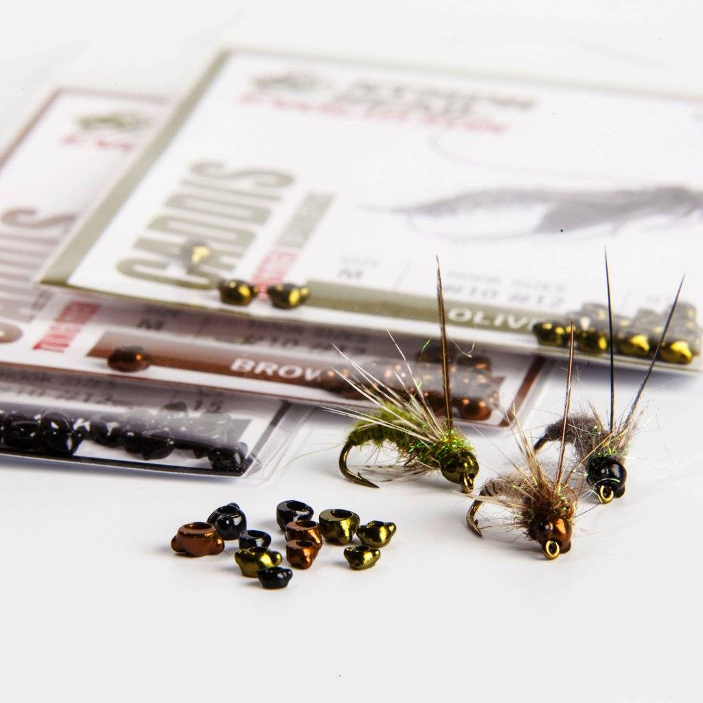 Hareline Nymph Head Tungsten Beads - Caddis