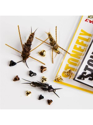 Hareline Nymph Head Tungsten Beads - Stonefly