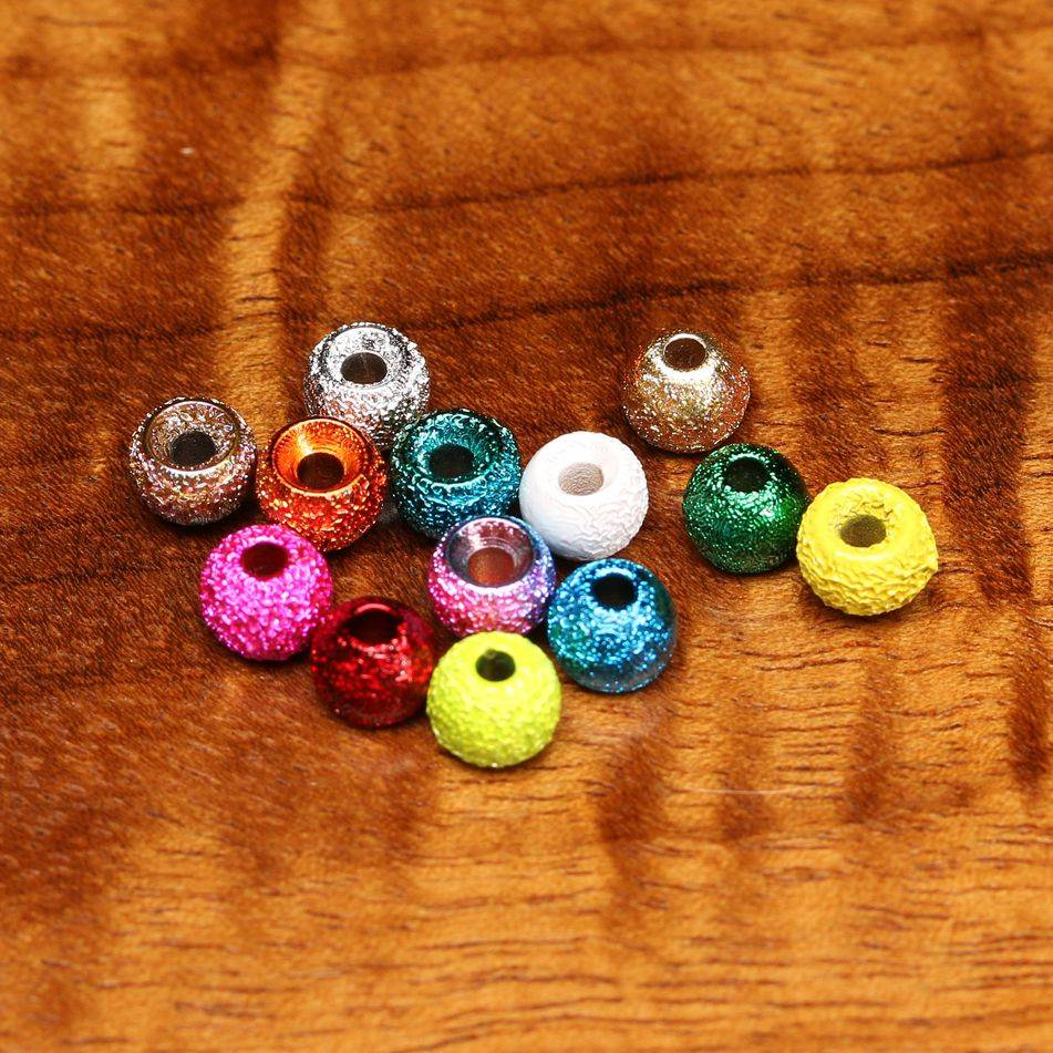 Hareline Gritty Brass Beads