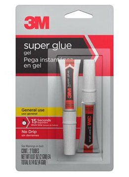 Scientific Anglers 3M Super Glue Gel-Two 2 gram Tubes