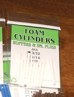 Hareline RR Foam Cylinders