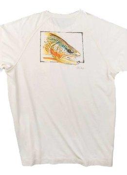 TrueFlies Brown Trout Head S/S Shirt