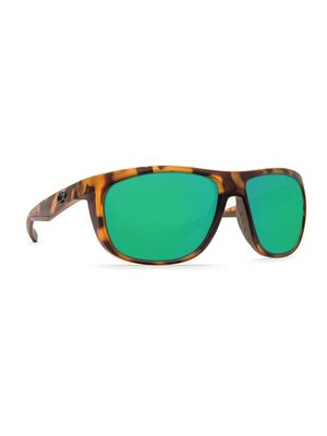 Costa KIWA Sunglasses Matte Retro Tortoise Green Mirror W580