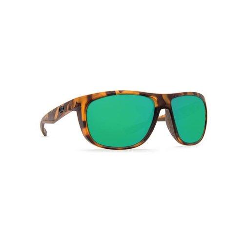 Costa KIWA Sunglasses Matte Retro Tortoise Green Mirror W580