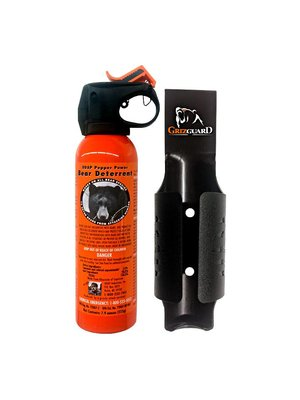 Bear Spray Safety Orange with Holster