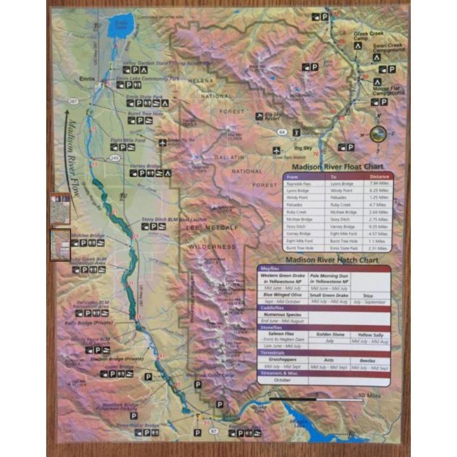 Madison River Map | Ennis Montana Fishing Maps - MRFC