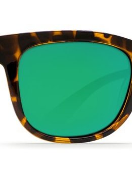 Costa Copra Retro Tortoise  with Black Temples Green Mirror 580G