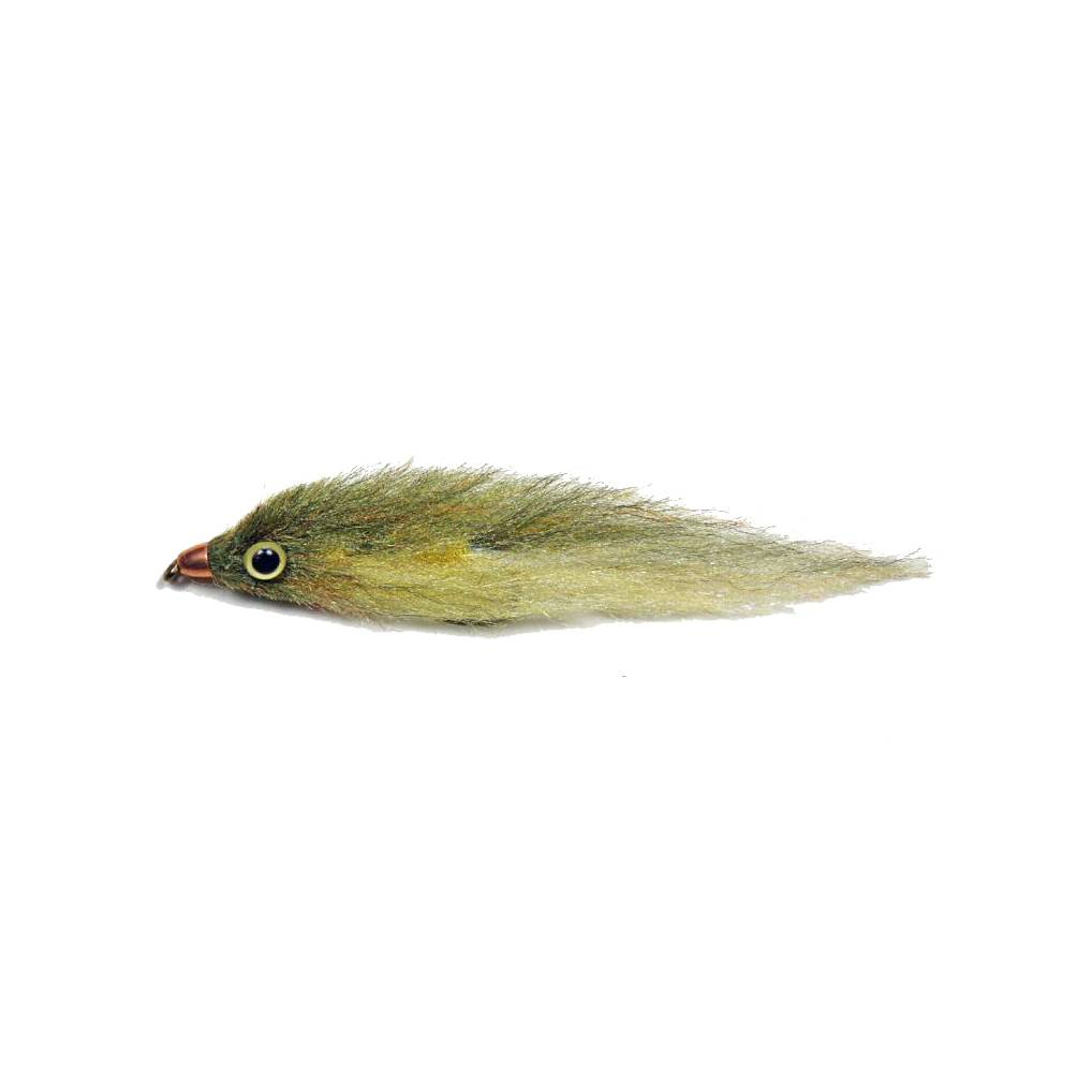 PUGLISI Trout Streamer #6 - Olive/Lt Yellow