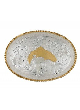 Simms Trout Belt Buckle Silver