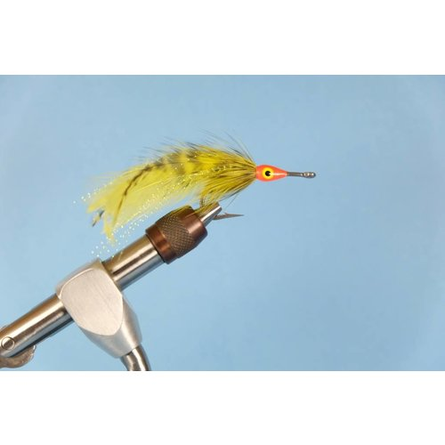 Grizzly/Chartreuse Tarpon Fly