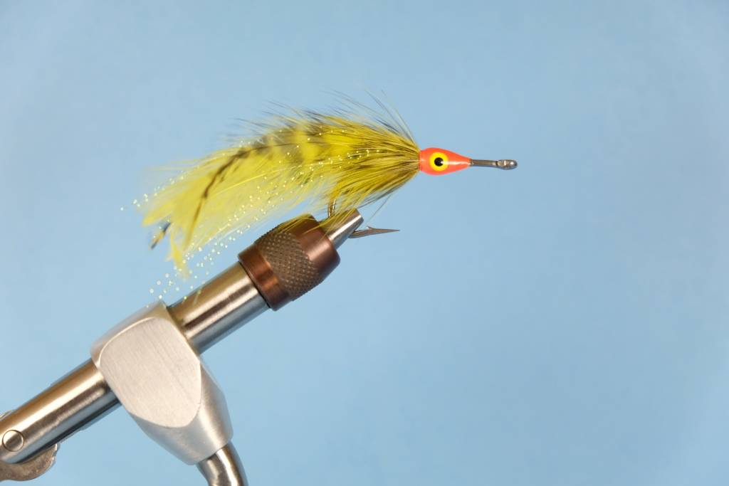 Grizzly/Chartreuse Tapron Fly