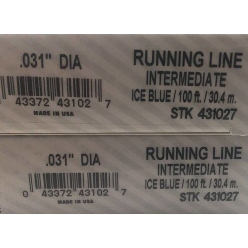 "Cortland Intermediate Running Line - .031"""