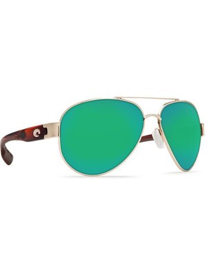 Costa Costa South Point Sunglasses Rose/Gold Tortoise Green Mirror 580P