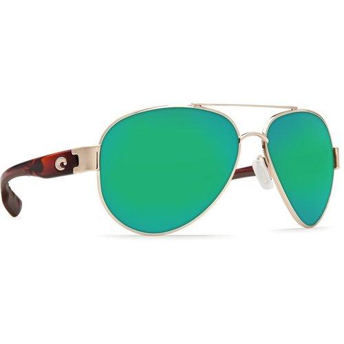 Costa Costa South Point Sunglasses Rose/Gold Tortoise Green Mirror 580P