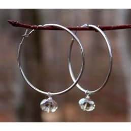 Steel Hoop W/Dangle Cross