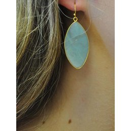 "2"" Oval Gemstone Earring"