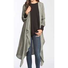 3/4 Sleeve Loose Fit High Low Duster Cardigan