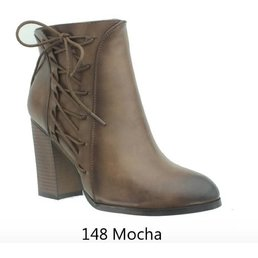 Ankle Boot W/ Corset Lacing Up The Side W/ Inside Zipper