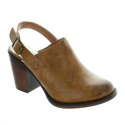 Heeled Clog W/ Back Buckle Strap