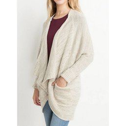 Long Sleeve Knit Cardigan W/ Front Pockets