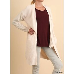 Chenille Knit Cardigan W/ Pockets