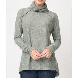 Brushed Knit Top W/ Back Detailing