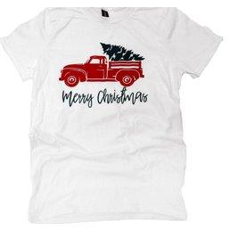 Short Sleeve Merry Christmas Truck Tee