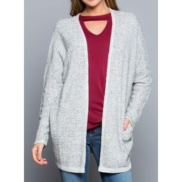 Marled Knit Sweater Cardigan