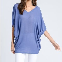 V Neck Dolman Tunic