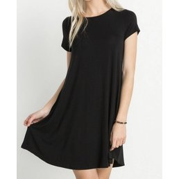 Bamboo Knit T-Shirt Dress W/ Pockets